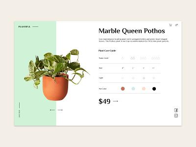 Plant Shop ux ui design