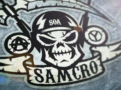Sons of Anarchy illustration logo sports ice hockey shirt design