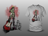 Zombies dribble guitar