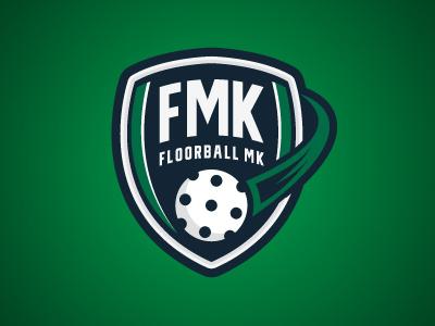 Floorball MK illustration vector sports logo floorball
