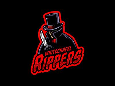 Whitechapel Rippers design hockey logos logo ice hockey vector sports illustration