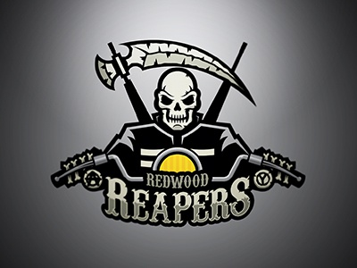 Redwood Reapers logo sons of anarchy tv skull sports