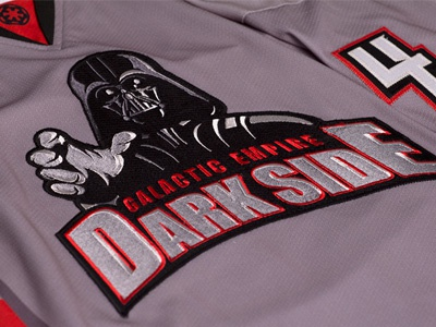 dba2c00a3 Galactic Empire Dark Side Jersey by Tortoiseshell Black on Dribbble