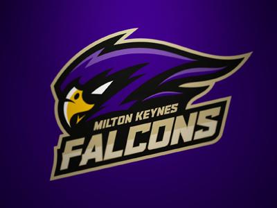 MK Falcons branding sports logo team logo ice hockey milton keynes mk falcons falcons