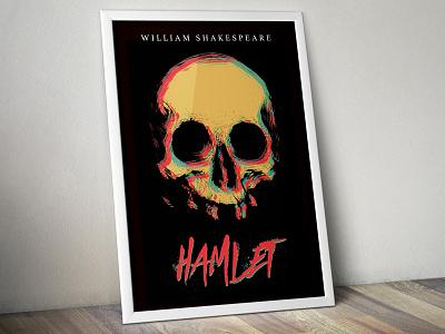 Hamlet Poster spray paint skull english william shakespeare shakespeare hamlet
