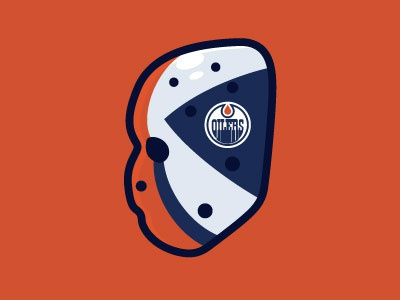 Grant Fuhr 81-82 Mask vector edmonton oliers grant fuhr mask illustration goalie mask goalie