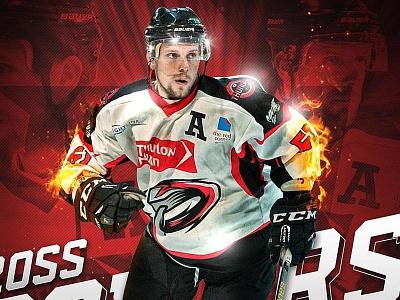 MK Thunder 17-18 Promotional Graphics sports promotion sports graphics sports branding promotional graphics flames graphics hockey player ice hockey mk thunder