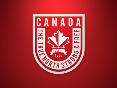 Canada, The True North Strong & Free true north playoff stickers sticker mule canada