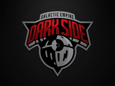 Galactic Empire Dark Side logo illustration vector red death star dark side galactic empire