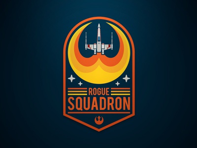 Rogue Squadron illustrator vector badge stars rebel alliance geeky jerseys x-wing star wars rogue squadron