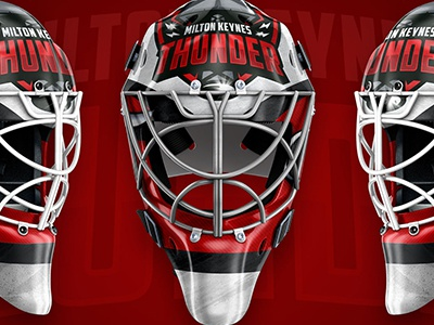 Thunder Helmet sports mk thunder mask design ice hockey goalie mask goalie
