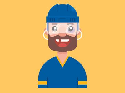 Hockey Player Avatar illustration vector hockey player hockey avatar