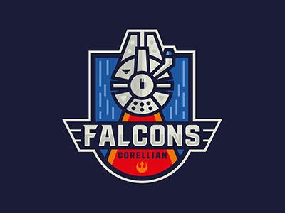 Falcons han solo corellian falcons star wars logossportslogos sport