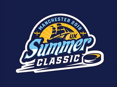 UK Summer Classic 2018 logo hockey summer classic ice hockey logosdesign sports