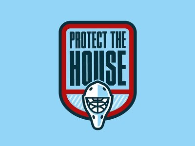 Protect The House goal goalie logo design sports design sports hockey ice hockey