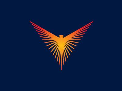Phoenix bird logo bird design logos logo vector illustration