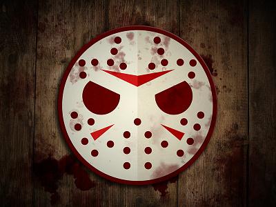Jason Voorhees Coaster jason voorhees friday 13th horror sketch design logo vector illustration