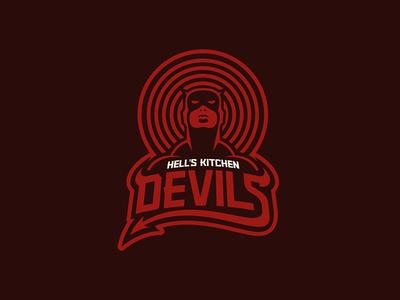 Hell's Kitchen Devils badge sports logo design type geeky jerseys hockey sports branding logos logo ice hockey vector sports illustration