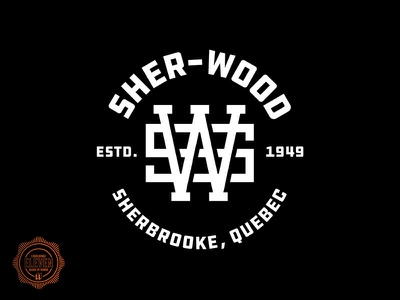 Sher-Wood typography branding sports logo hockey sports branding logos logo vector ice hockey sports