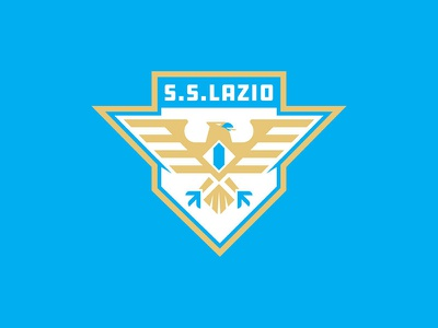 Lazio typography branding badge design type sports logo football soccer sports branding logos logo vector sports