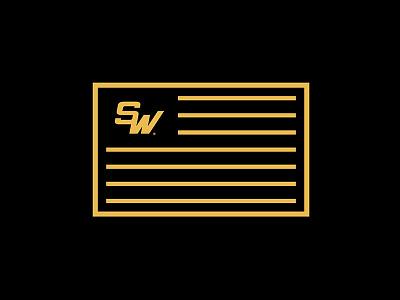 Sher-Wood Patch typography badge type design sports logo sketch hockey sports branding logos logo ice hockey vector illustration sports