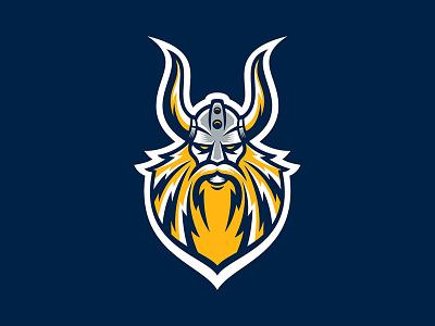 Viking branding badge design sports logo hockey sports branding logos logo ice hockey vector sports illustration