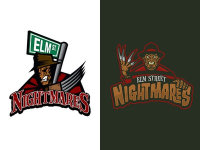 Dribbble Turns 10 - Frist shot next to a recent shot geeky jerseys hockey jerseys ice hockey elm street freddy nightmare dribbble turns 10