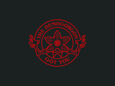 The Demogorgon Got You logo illustration vector netflix horror demogorgon stranger things