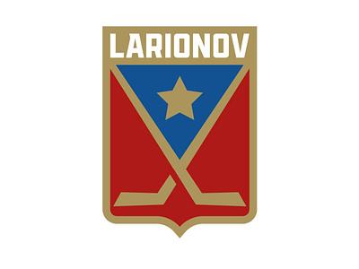 Igor Larionov branding hockey sports branding logos logo ice hockey vector sports illustration