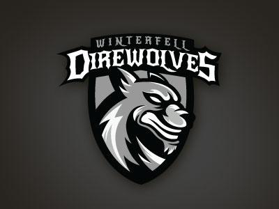 Winterfell Direwolves illustration logo vector sports