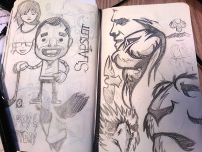 Yesterdays sketches
