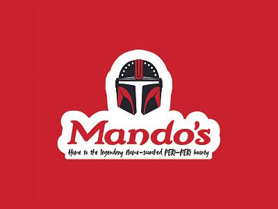 Mando's logodesign mandalorian logo illustration vector starwars