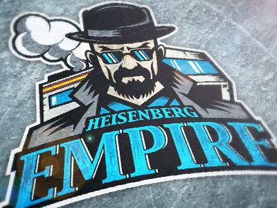 Breaking Bad - Heisenberg Empire illustration logo sports ice hockey shirt design breaking bad