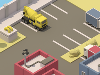 Isometric Parking Lot