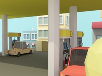 Gas Station Angle
