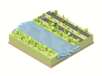 Isometric Landscape #1 + New Water