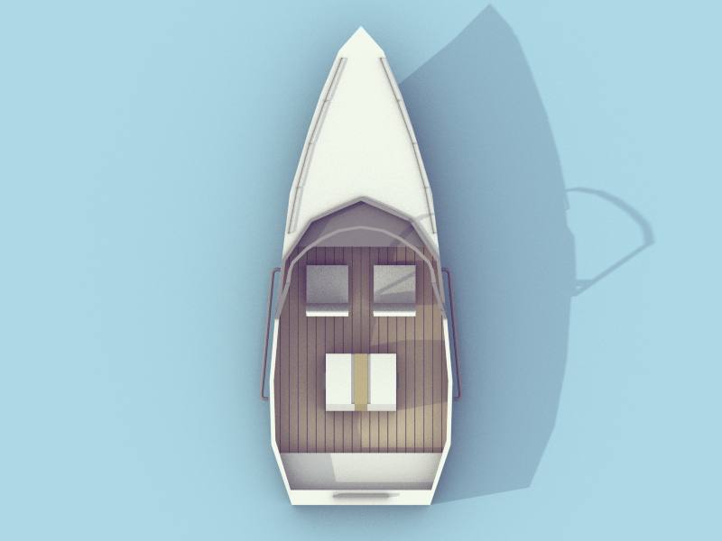 Speed Boat boat speed boat ship water isometric poly low low poly blender model 3d