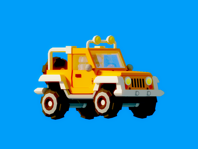 Low Poly Jeep asset isometric vr google madewithblocks blocks vehicle car jeep low poly