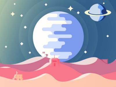 Flat Space Scene (2D)