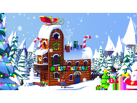 "Merry Christmas - ""The Grinch"" Fan Art illustration winter scene landscape nature model blender 3d house cabin winter snow fan art low poly grinch christmas"