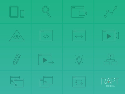 Rapt Media Icons play animation interactive website web html5 design video icons