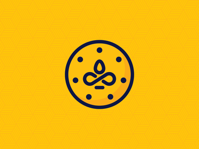 Golden Life yoga chakra vitamins supplements life golden gold icon design logo