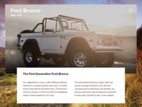 Ford Bronco - UI