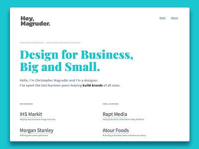 New Persoanl Site user experience website web design brand ui brand web ux design