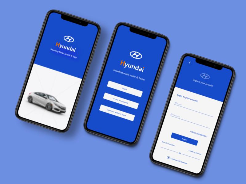 Hyundai App ui design