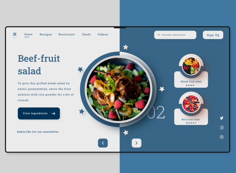 Kim Kitchen Web Landing Page (Version One). web design ui