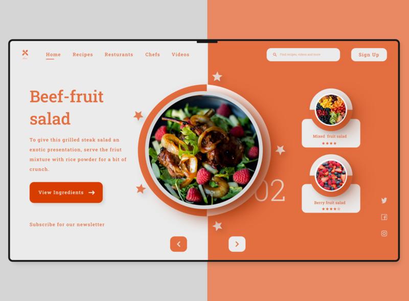 Kim Kitchen Web Landing Page (Version Two). ux design web ui
