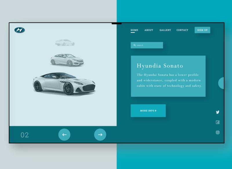Hyundai Website Landing Page (version 2.0) web ux ui