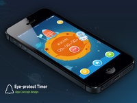 App concept design(Eye-protect timer for children)
