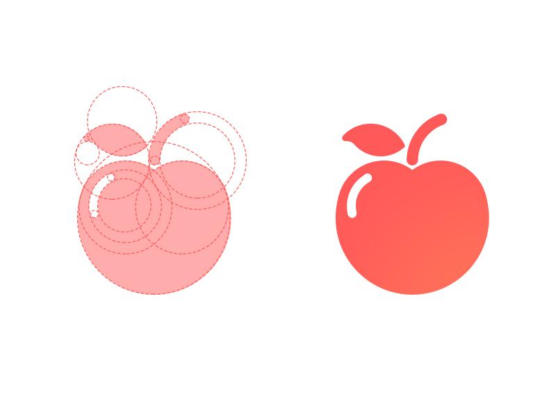 Apple Icon     fun red apple icon ui